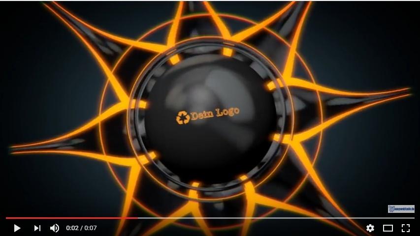 """Video Logo Intro """"Abstrakte Blüte"""" mit Deinem Logo"""