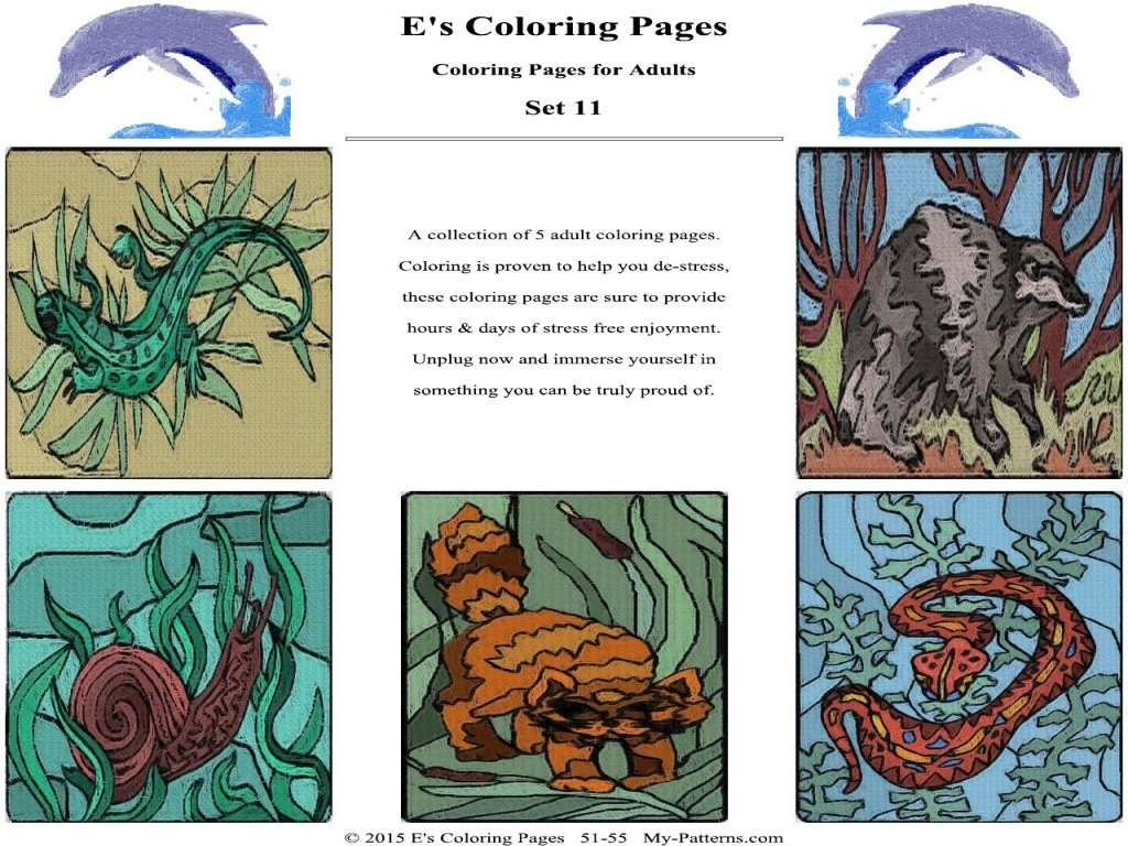 E's Coloring Pages - Set 11
