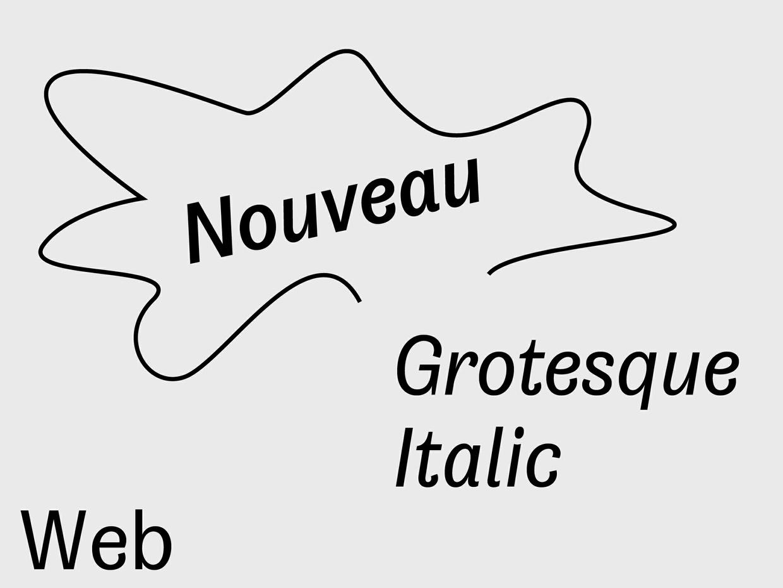 Nouveau Grotesque Italic Web 10.000 Pageviews