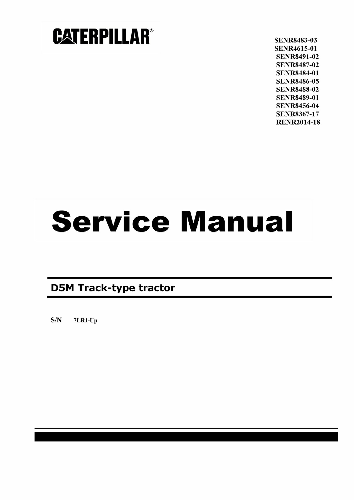 Pdf Download Caterpillar CAT D5M LGP Track Type Loader Full Workshop  Service Manual SN-7LR00219