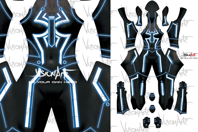 Tron Spider-Girl Blue Black