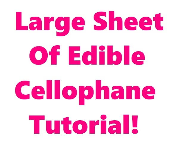 FREE (with coupon code!) Large Sheet of Cellophane Tutorial