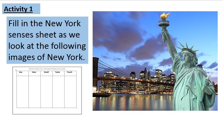 new york city descriptive essay
