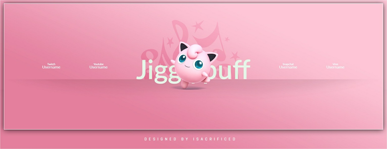 POKEMON GO: Jigglypuff Twitter Header Template (PSD)