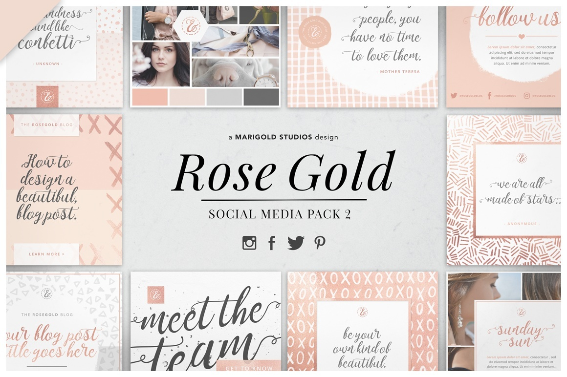 ROSE GOLD   Social Media Pack 2