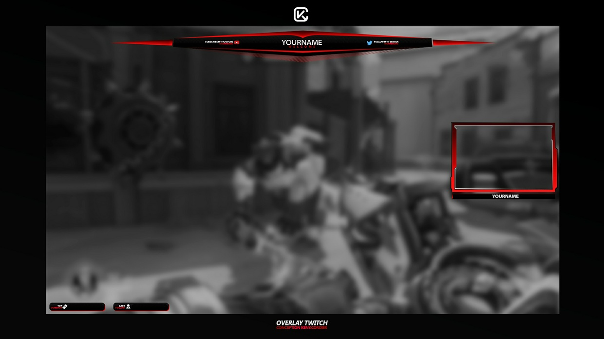 Template Overlay Twitch by Keny Cordier