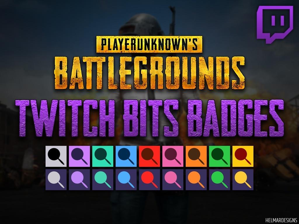 PUBG Pan Twitch Bits Badges
