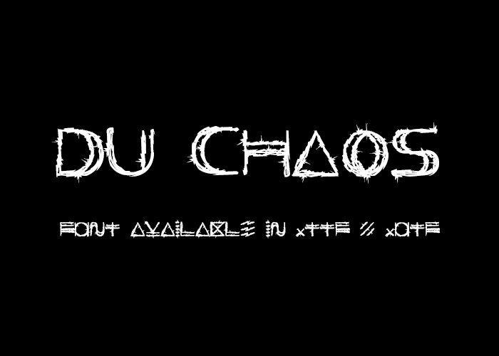 Enfant du Chaos - Font.
