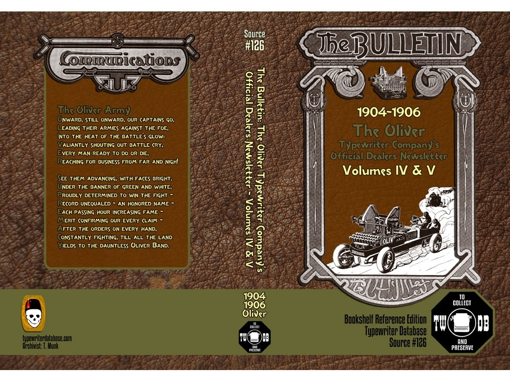 1904-1906  The Oliver  Typewriter Company's  Official Dealers Newsletter  Volumes IV & V
