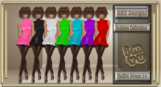 Ruffle Dress 14 CATALOG ONLY!!