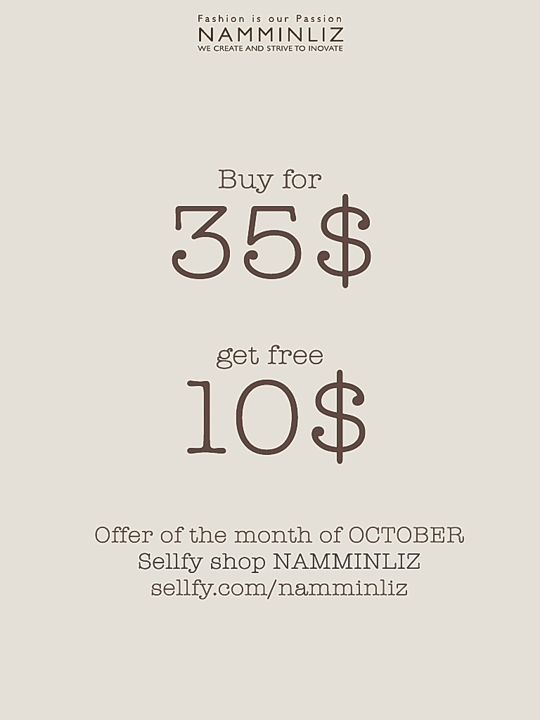 October offer imvu NAMMINLIZ sellfy shop