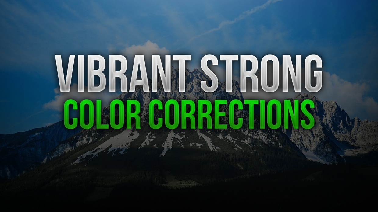 Vibrant Strong Photoshop Color Correction Pack