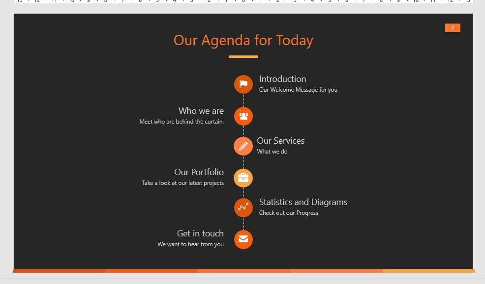 ORANGE Dark PPT
