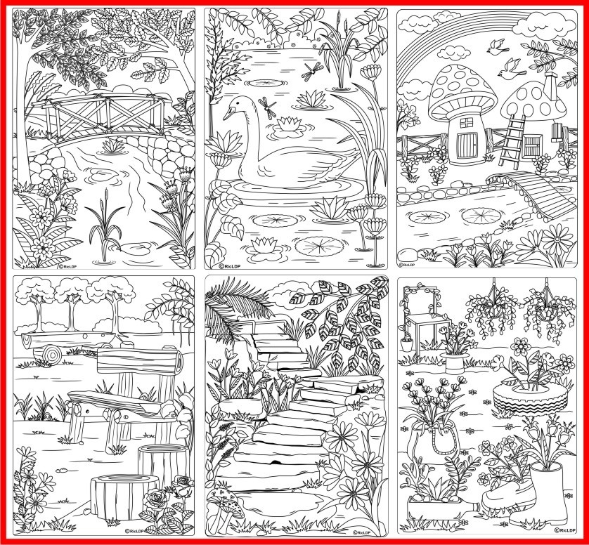 Twenty Coloring Pages for Grown-Ups
