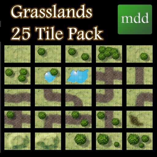 Grasslands 25 Tile Pack