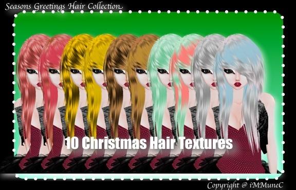 10 Christmas Hair Textures (SG)
