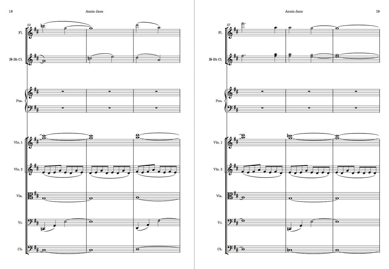 Annie Jane - Original Piece for String Orchestra, Piano, Flute, and Clarinet