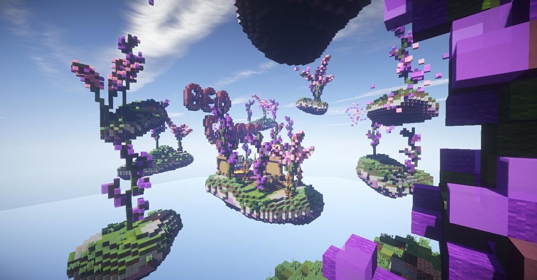 Lavender Theme BedWars Spawn/Lobby