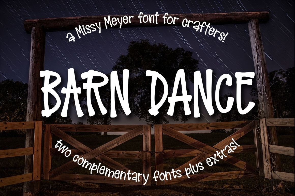 Barn Dance - a homey little font!