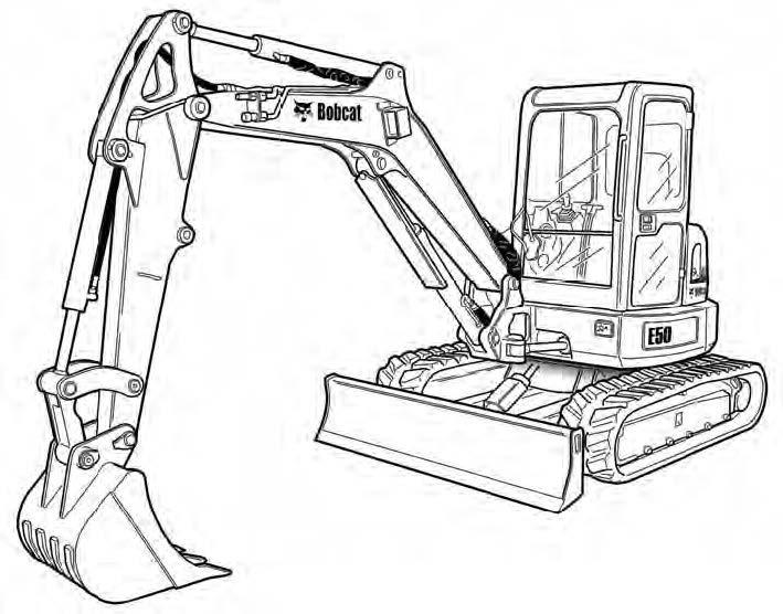 Bobcat E50 Compact Excavator Service Repair Manual Download(S/N AJ1811001 & Above)