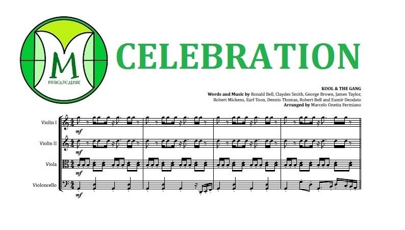 Celebration   Kool & The Gang   String Quartet   Score and Parts   Download