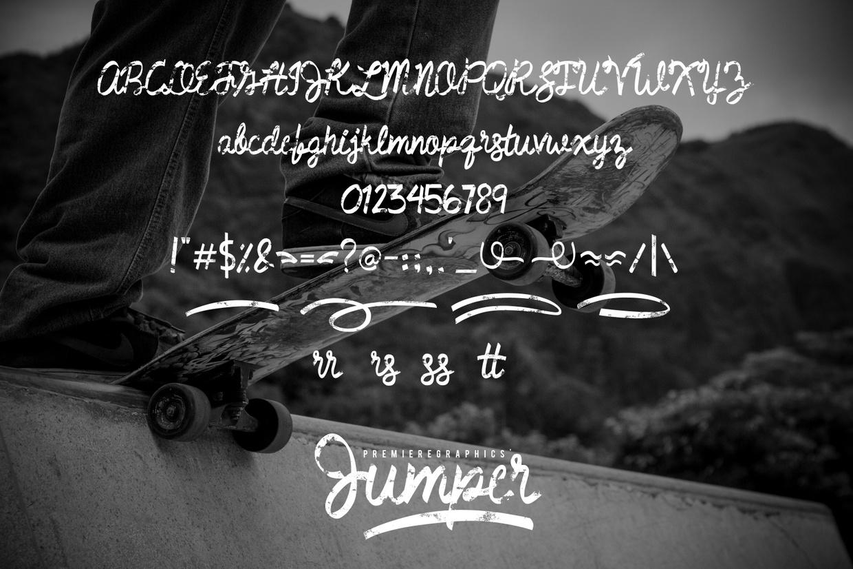 Jumper Handwritten Textured Font