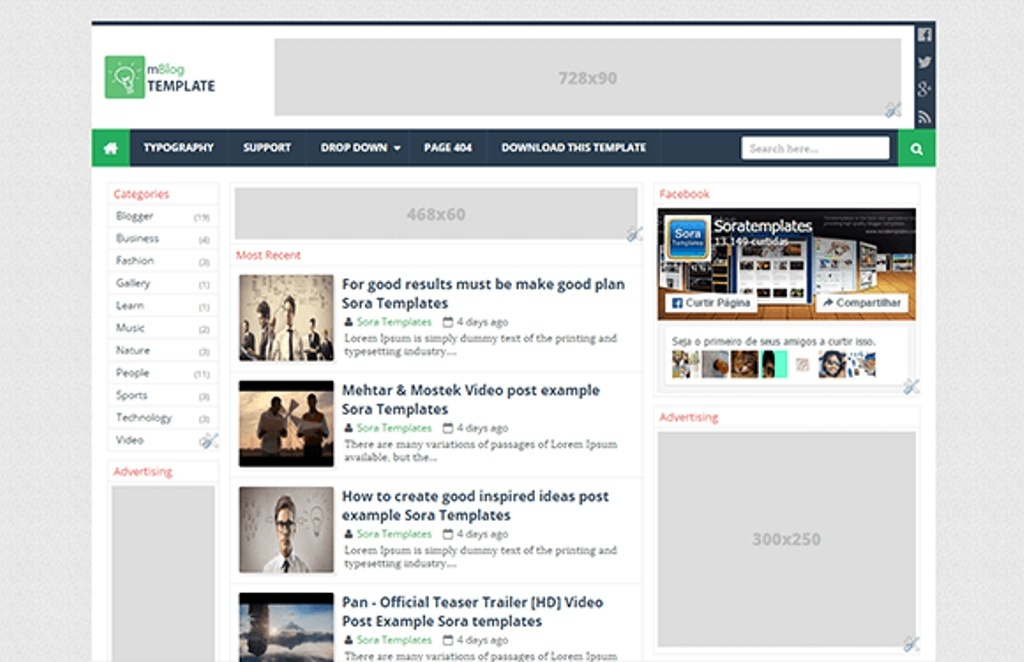 mBlog Blogger Template Premium Version