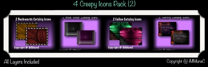 8 Creepy Icons (Set 2)