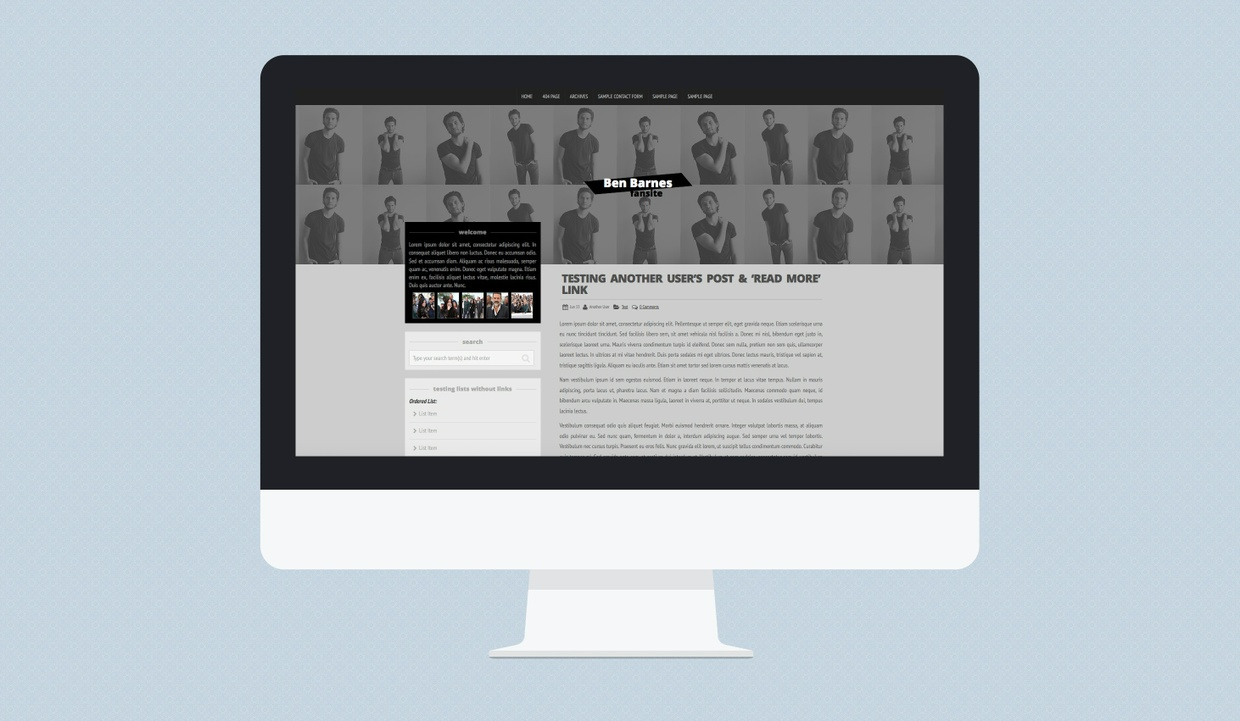 [R] Wordpress Theme #02