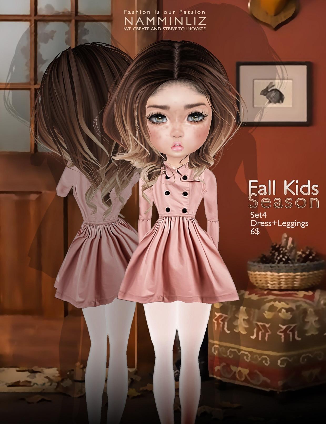 Fall Kids Season SET4 imvu texture JPG ( Bibirasta dress )