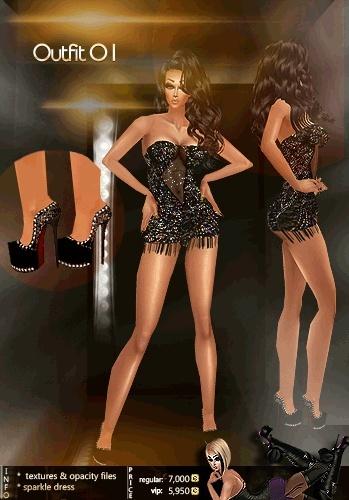 Outfit 01 Texture Set IMVU TEX