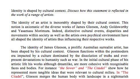 cultural relevance of artwork essay
