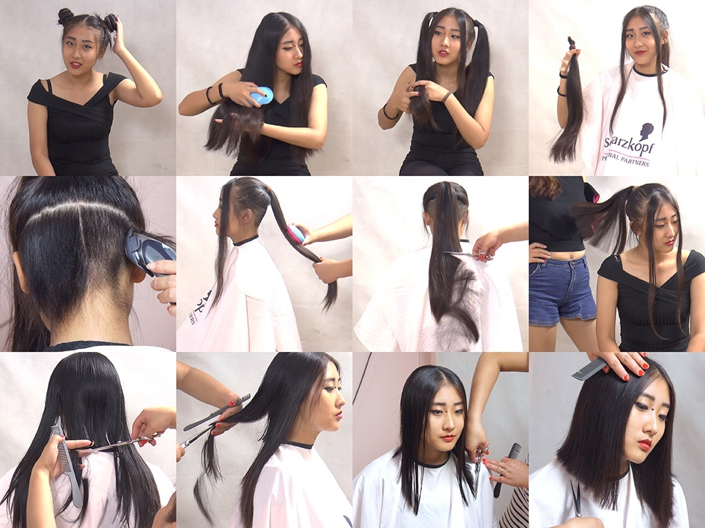 Miss Jing Long to Pixie Haircut in Stages Part 1