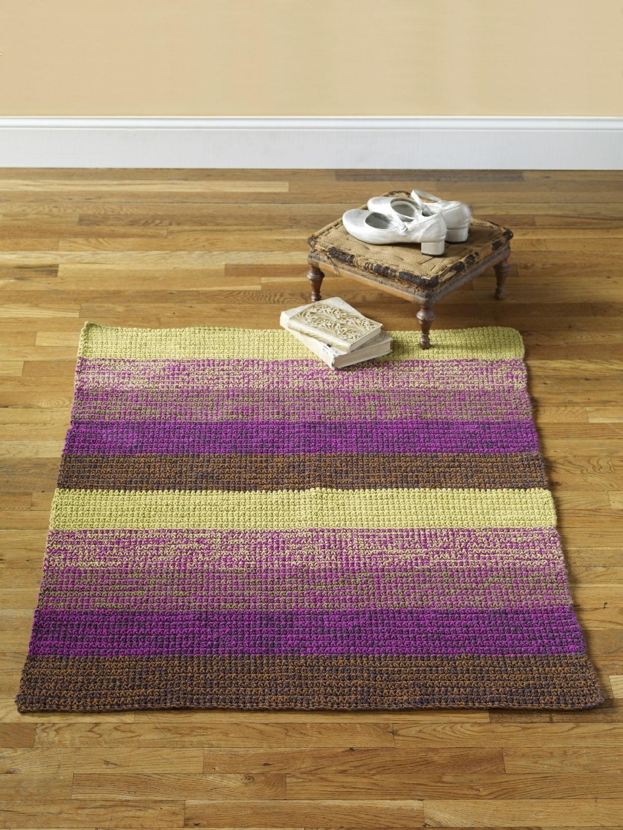 Crochet Grape Maize Rug
