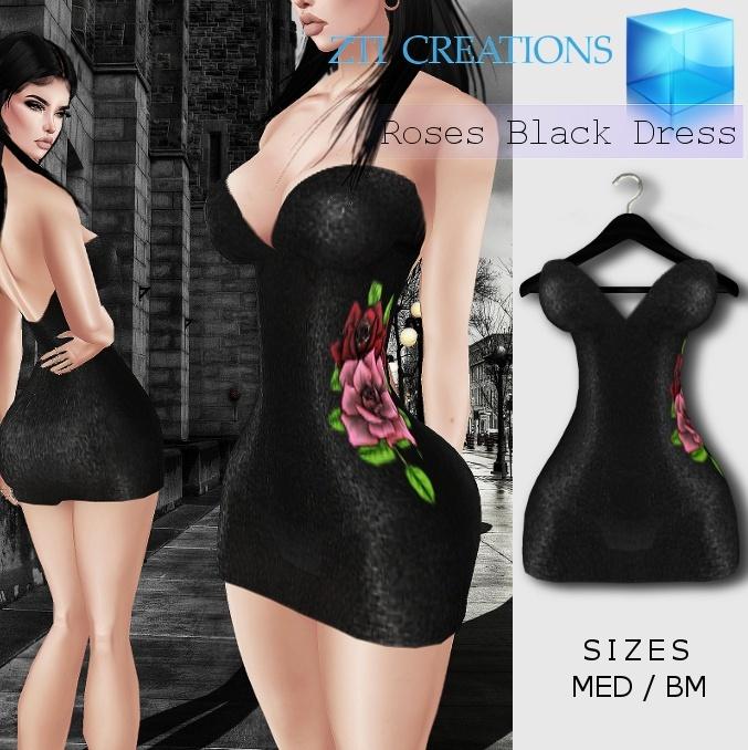Roses Black Dress 302