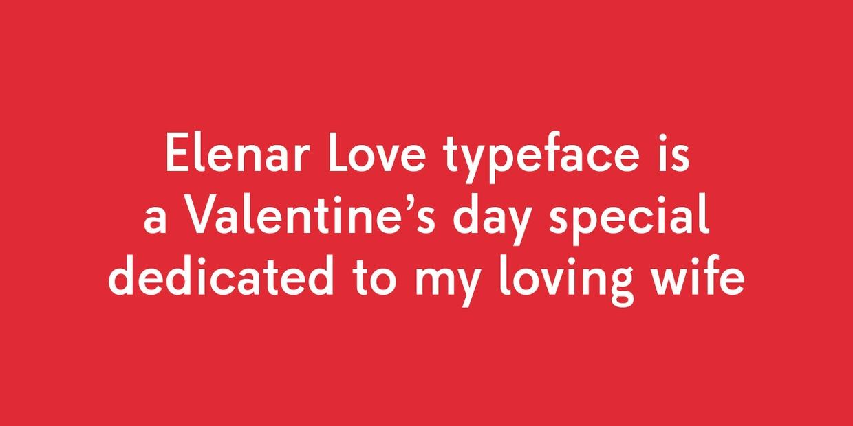 Elenar Love Free Font