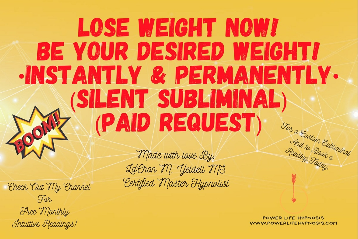 INSTANT & PERMENANT WEIGHT LOSS Subliminal