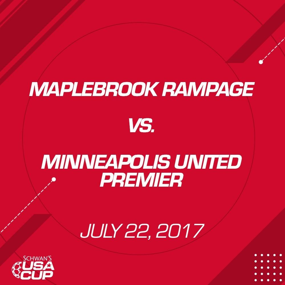 Girls U15 Gold Final - July 22, 2017 - MapleBrook Rampage vs Minneapolis United