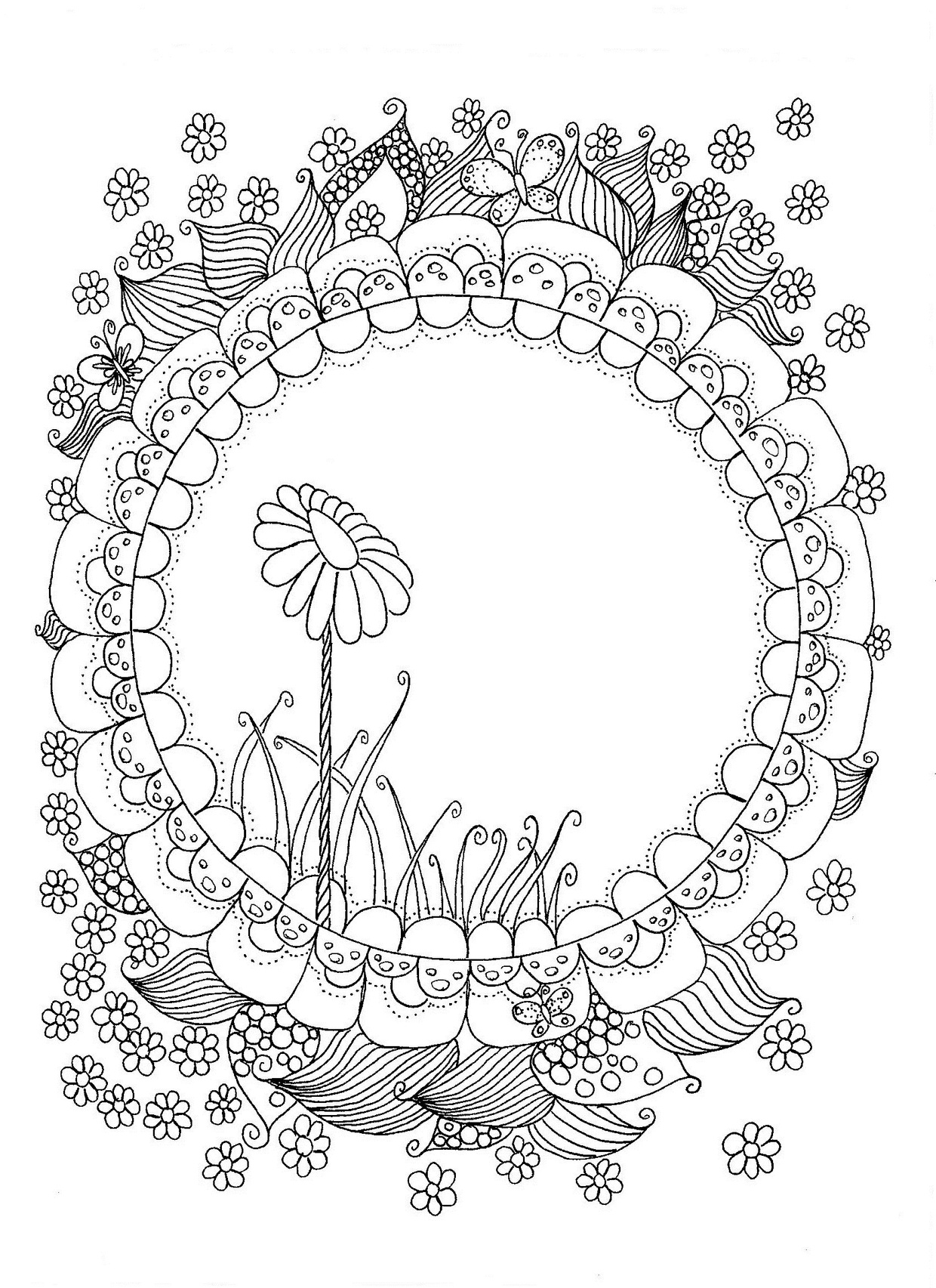 Stand Like a Flower Coloring Page