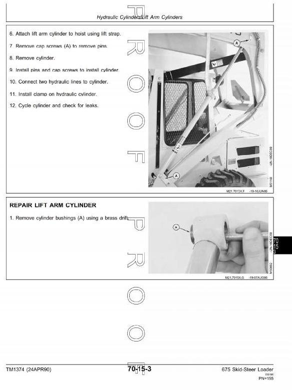 John Deere Skid Steer Loader: 675, 675B Workshop Service Manual