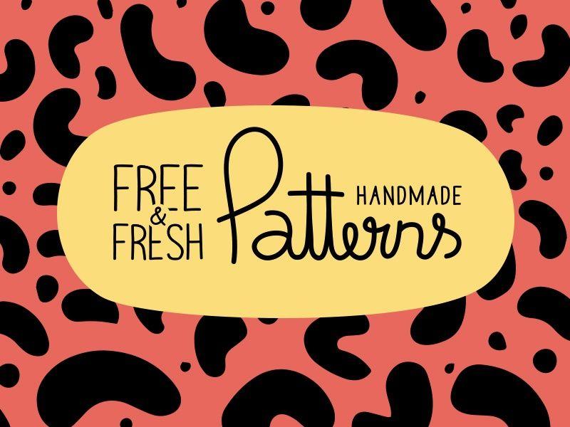 7 FREE FRESH HANDMADE PATTERNS IN VECTOR