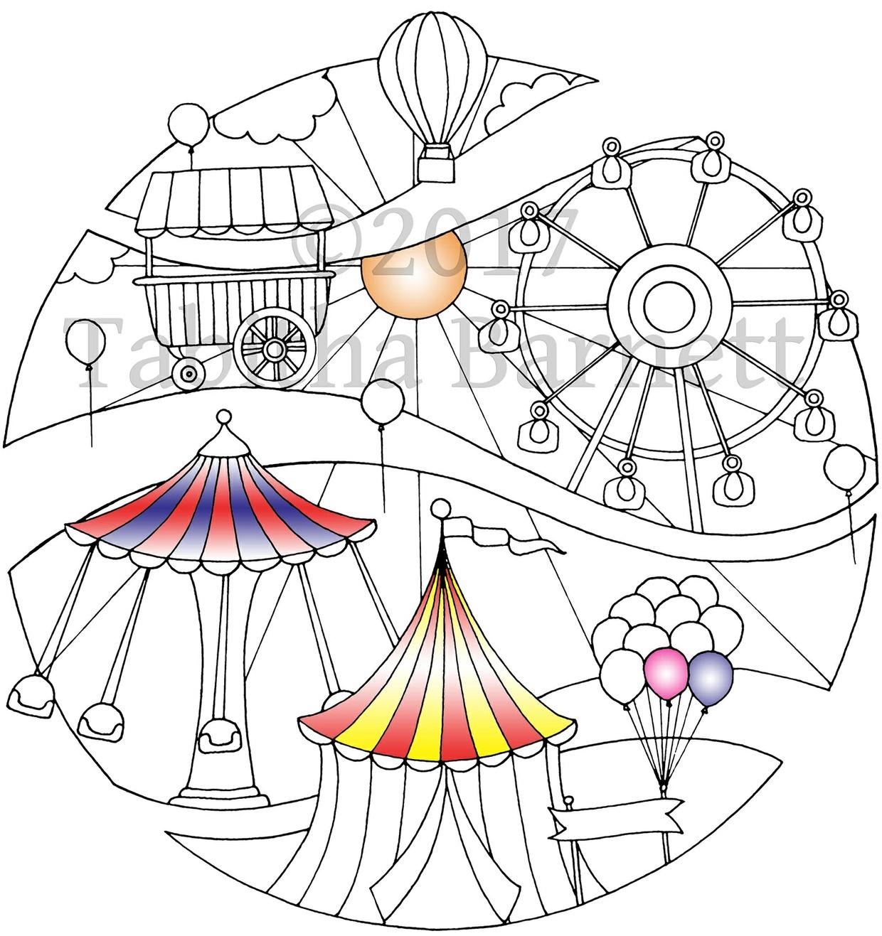 Broken Circles Coloring Pack #3 (3 page PDF)