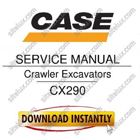 Case CX290 Crawler Hydraulic Excavators Service Manual