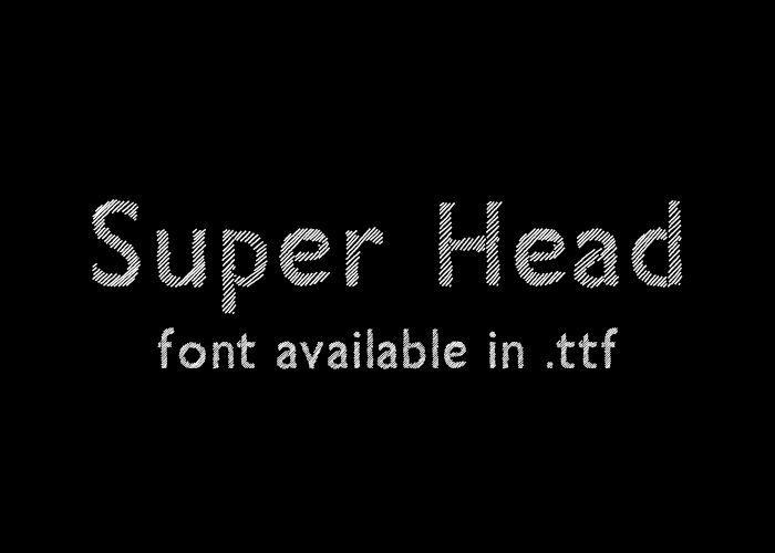 Super Head Club - font.