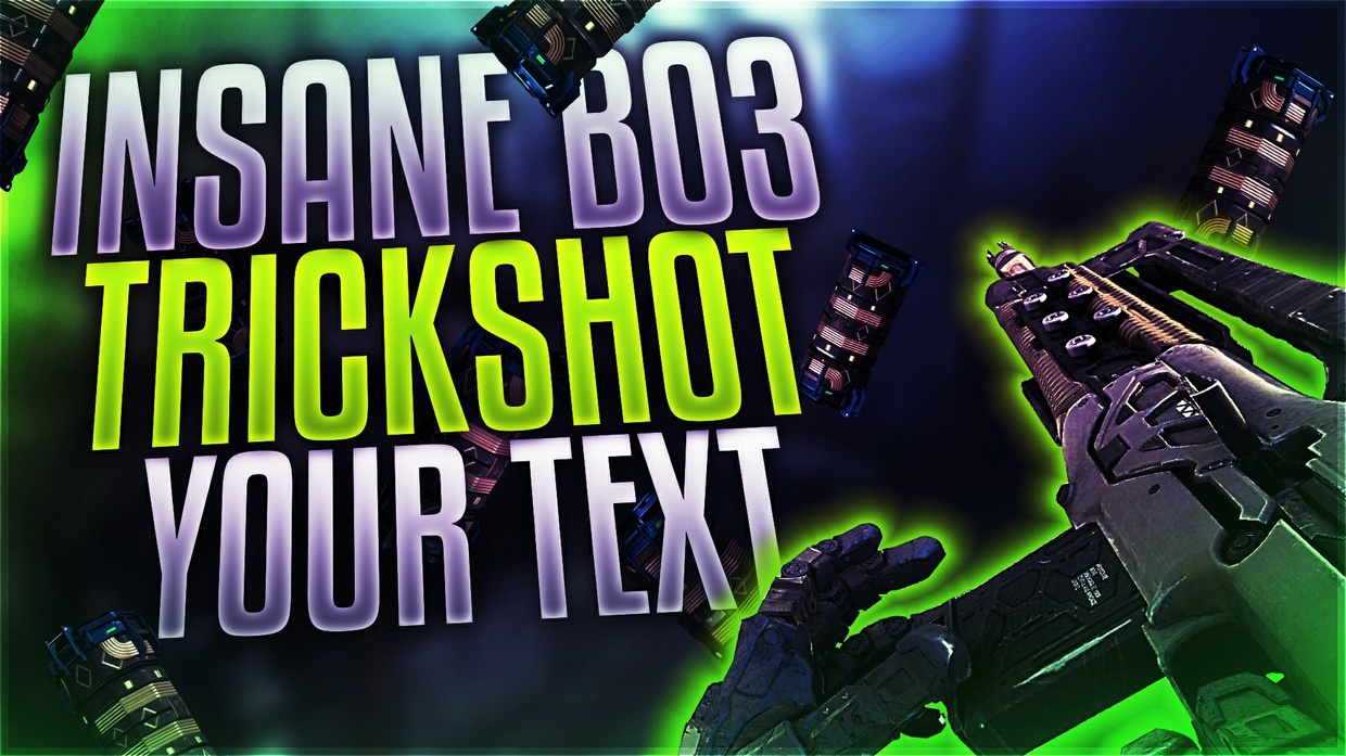 Black Ops 3 Equipment Themed Thumbnail Template