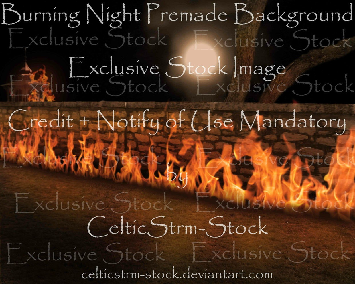 Burning Nights Premade Background