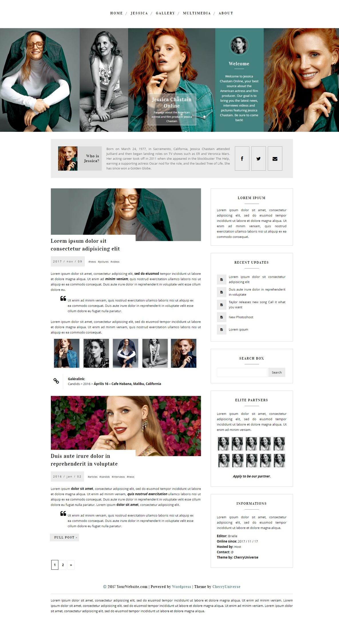 CU WordPress Theme #03 ~Responsive