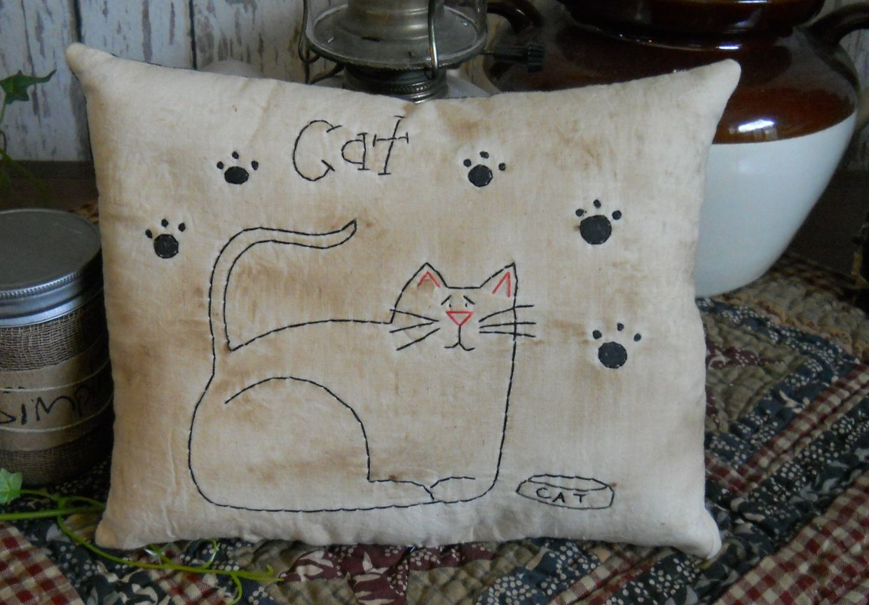 #406 cat stitchery e pattern