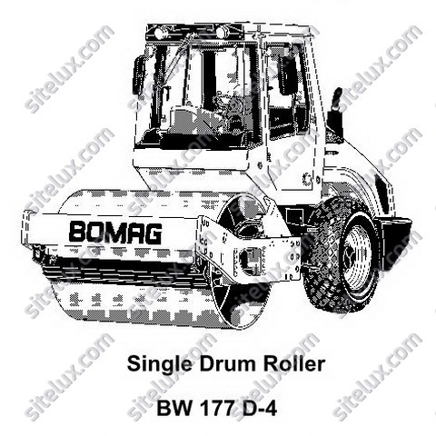 Bomag BW 177 D-4 Single Drum Roller Service Training