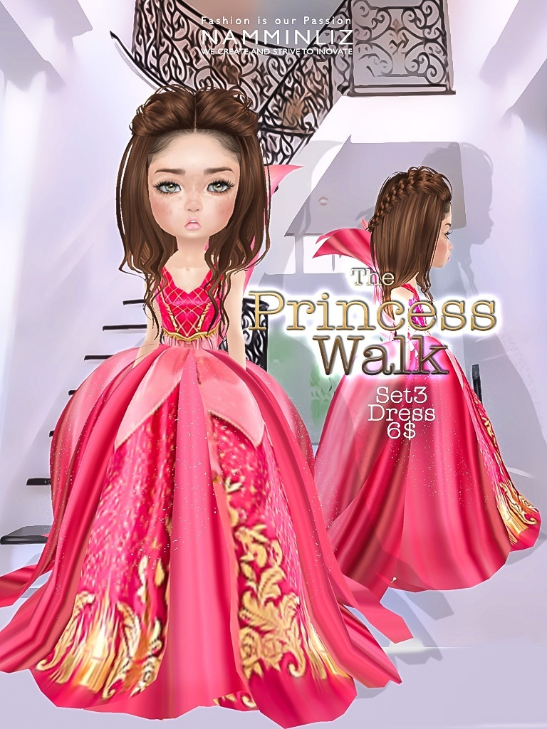 The Princess walk Full SET imvu Texture JPG delure